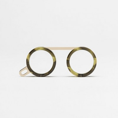 Fassamano Spotted Green Havana / Polished clear gold
